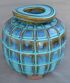 Wilhelm Kåge (Swedish, 1889-1960) Gustavsberg Studio, Glaze Decorated Stoneware.