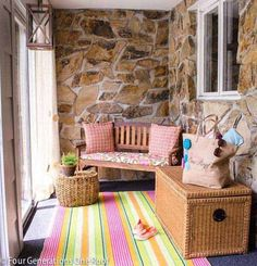 31 Brilliant Porch Decorating Ideas That Are Worth Stealing Porch, whether it is inside or outside , is a very wonderful place in our hom. Small Front Porches, Front Porch Design, Decks And Porches, Summer Porch, Porch Makeover, Home Porch, Porch Decorating, Decorating Ideas, Summer Decorating