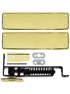 Pivot Door Hinge. Heavy Duty Swinging Door Floor Hinge With Solid Brass Cover Plates