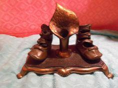 Antique Children's High Top Botton Bronze by doyourememberwhen