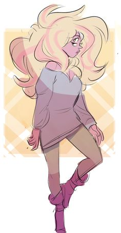 The Salliest of Sues., some quick rainbow quartz drawings