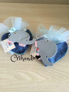 Portachiavi elefantino fommy e cuoricino feltro porta confetti