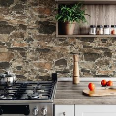Merola Tile Rambla Arena in. Porcelain Floor and Wall Tile sq. / - The Home Depot Natural Stone Backsplash, Rock Backsplash, Natural Stone Wall, Stone Look Tile, Stone Tiles, Rock Tile, Stone Bathroom, Wall Exterior, Stone Kitchen