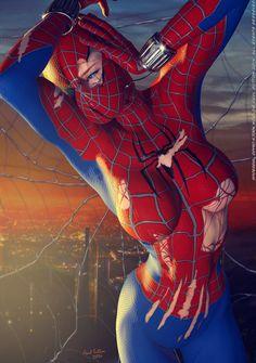 SPIDER-GIRL Ripped N Torn by DevilishlyCreative