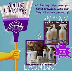 Time for that spring cleaning! #scentsy #cleaning #organizing https://KassandraBosley.Scentsy.us