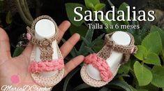 DIY sandalias para bebe hechas a crochet