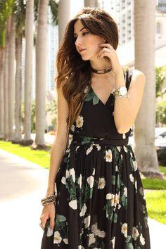 FashionCoolture - 16.06.2016 look du jour Lulu's floral long dres summer Miami (4)