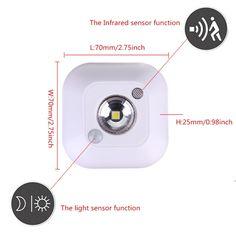 Mini Wireless PIR Motion Sensor Night Light Battery Powered Porch Cabinet Lamp Sale - Banggood.com