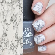 Real Marble Effect Nail Art