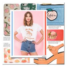 """""""Baby You're a Peach"""" by asteroid467 ❤ liked on Polyvore featuring Skinnydip, Cotélac, Too Faced Cosmetics, Forever 21 and Yeah Bunny"""