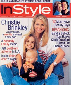 InStyle Magazine Covers: 1996 - July, Christie Brinkley, daughter Alexa Ray, and son Jack from #InStyle