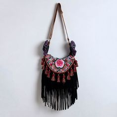 boho clothing | Hippie Fringe Crossbody $75.00