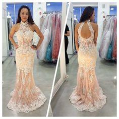 open back prom dresses, halter prom dresses, lace prom dresses