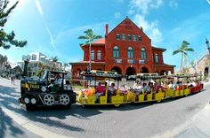 Key West's Conch Tour. Florida, Orlando, Miami en Key West met manlief en vrienden in 2000
