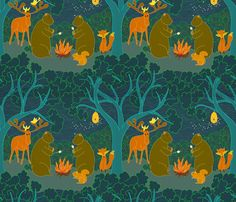 Do Bears Camp in the Moonlit Forest
