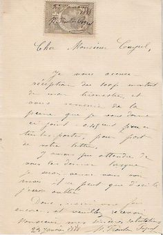 Antique1888 French notarial old papers handwriten by petitbrocante, $9.00
