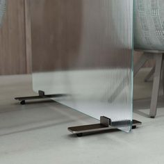 For Sale on 1stdibs - Skin small screen is shown here in the transparent flutes glass with wheels. Skin is the new program of glass screens by Glas Italia, designed to create Bronze Color Paint, Paint Colors, Laminated Glass, Hotel Reception, Ensuite Bathrooms, Semi Transparent, Flutes, Glass Screen, Home Accents