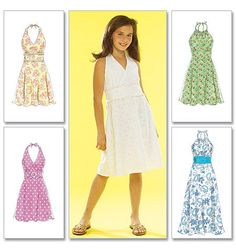 3087d3e2c671 McCalls M5574 - Girls Dresses Sizes  7-12 Fashion Patterns
