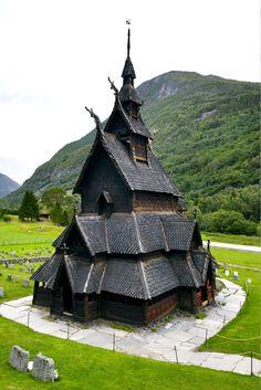 Borgund stave wooden church in Western Norway.