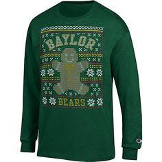 Baylor University Bears Ugly Christmas Long Sleeve T-Shirt