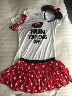 c893e3c587 Disney Minnie Mouse running outfit. Top from Colombia and skirt from Sparkle  athletics. Ears