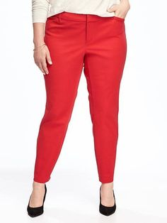 Smooth and slim pixie pants red