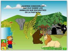 Tic animales salvajes http://www.rena.edu.ve/nivelInicial/animalesSalvajes/act01.html