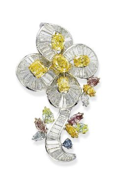 Colored Diamond Brooch  Carvin French  Christie's