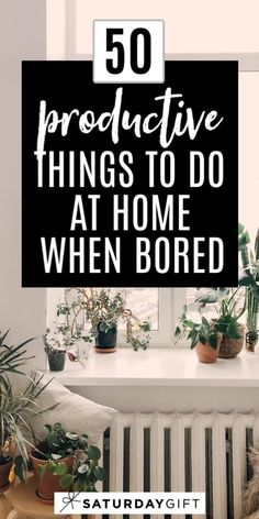 Stuck at home? Binge-watching Netflix? Don't know what to do? Here's a list of 50  productive things to do at home when bored.  Check this list out for great things to accomplish during down time.  #ideas #tips #simple #productive #athome #bored Productive Things To Do, Things To Do At Home, Productive Day, New Things To Learn, Self Development Books, Personal Development, Home Management Binder, Setting Goals, Goal Settings
