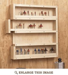 Router Bit Organizer Wall Unit Woodworking Plan, Shop Project Plan | WOOD Store