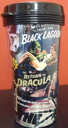 Vintage monster horror movie travel coffee mug