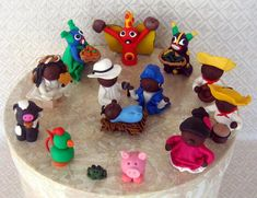 This is a completely original Nativity scene created by Puerto Rico's first certified Polymer Clay Artesean: Belen del Nido. Inspired by Pue...