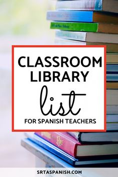 Check this FVR Library List full of novels for your Spanish students! High School Activities, Spanish Activities, Vocabulary Activities, Class Activities, Teaching French, Teaching Spanish, Teaching Resources, Teaching Ideas, French Lessons