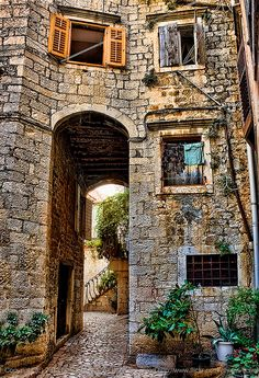 Trogir, Croatia (Been here) Montenegro, Places To Travel, Places To See, Beautiful World, Beautiful Places, Trogir Croatia, Southern Europe, Stone Houses, Old Buildings