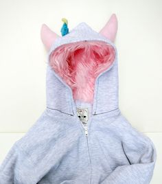Gray Youth Monster Hoodie  - Size Medium from Diane Koss for $50.00 Unicorn Hoodie, Renegade Craft Fair, Bunny Plush, Grey Hoodie, Hoodies, Sweatshirts, Youth, Gray, Trending Outfits