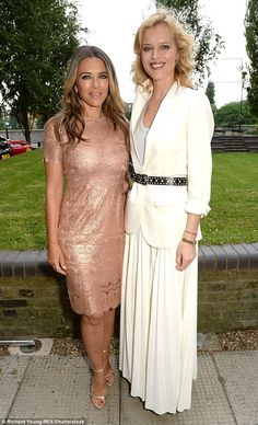 Glamorous: The Royals star posed up a storm alongside veteran model Eva, who was dressed t...