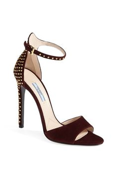 Prada Ankle Buckle Studded Sandal available at #Nordstrom