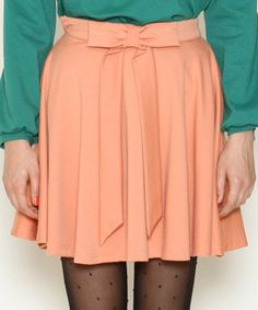 Peachy bow skirt