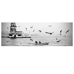 Large istanbul panorama istanbul city black and white by gonulk #photography #homedecor #walldecor
