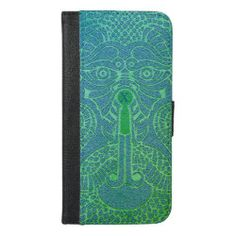 Custom abstract Dragon Face Wallet Case blue/green Dragon Face, Dragon Head, Happy New Year Design, Phone Card, New Year Card, Navy And Green, Dog Design, Card Wallet, Abstract