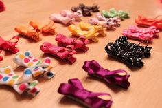 DIY Hair Bows that won't slip out of fine baby hair!