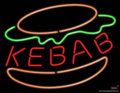 Kebab Burger Real Neon Glass Tube Neon Sign,Affordable and durable,Made in USA,if you want to get it ,please click the visit button or go to my website,you can get everything neon from us. based in CA USA, free shipping and 1 year warranty , 24/7 service Neon Food, Handmade Art, Tube, Neon Signs, Free Shipping, Delivery, Glass, 1 Year, Beer