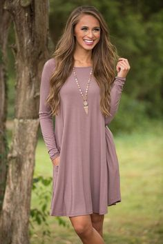 My Heart's Desire Dress Faded Plum