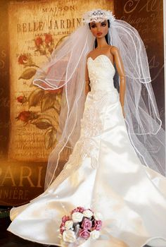 barbie*dolls*bridal*gowns 1..2 qw