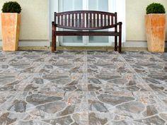 Palladium Stone Slip Resistant Finish Ceramic Floor Tile - 500 x Living Room Flooring, Tiling, Tile Floor, Patio, Ceramics, Stone, Design, Home Decor, Ceramica