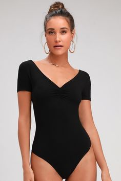 Bodysuits Smart Fashion Sexy Women Short Sleeve Stretch Bodysuit Ladies Leotard Body Top Clothes Summer