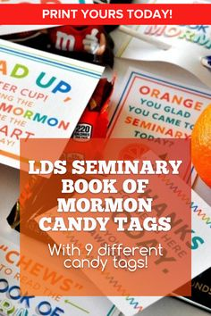A total of 9 tags that can be used over and over again. Use them for holidays, birthdays, or any day you want to your students to have a special treat from you! Be awesome today! #SeminaryPrintables #LDSseminary #MormonPrintables #LatterDaySaint #Ministering #MinisteringPrintables #LDSprintables Relief Society Lesson Helps, Relief Society Lessons, Lds Seminary, Lds Books, Student Birthdays, Fhe Lessons, Doctrine And Covenants, Visiting Teaching, Orange You Glad