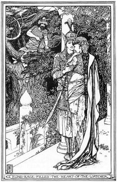 """""""He wins who waits,"""" H.J. Ford, The Olive Fairy Book by Andrew Lang"""