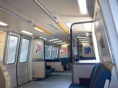 Transit Pictures from the San Francisco Bay Area: Interior of BART Car