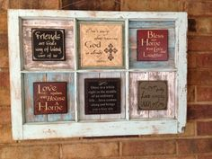 Salvaged Antique 6 Pane Window Upscaled With by JustMeandMom, $48.00